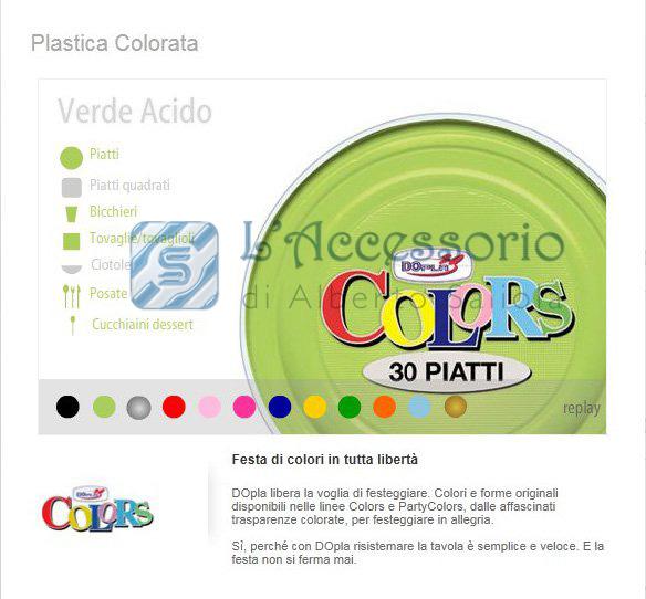 ... Catalogo prodotti » Feste » Piatto piano plastica Verde acido Dopla