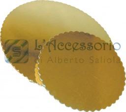 Dischi per torta in cartoncino oro piatti