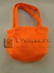Accessori: Borsetta in juta arancione