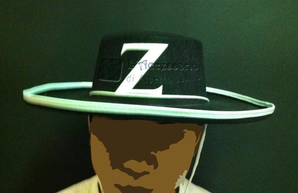 Cappello Zorro adulto mod. superiore a76d0e9d9b17
