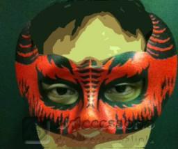 Domino diavolo rossa e nera