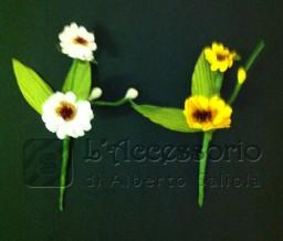 Pick Fiore in carta 2 girasoli e 2 foglie
