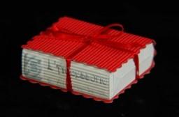 Scatolina Libro onda rosso 7x6x2