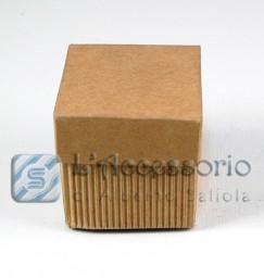 Scatolina cubo 5x5x5 onda avana