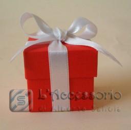 Scatolina cubo 5x5x5 seta rossa