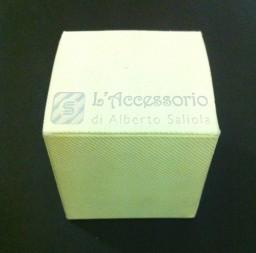 Scatolina cubo 6x6x6 scia panna