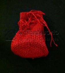 Sacchetto rete semplice rosso