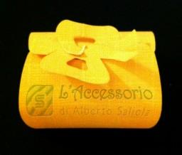 Scatolina fiocco 7x6x3 seta arancio