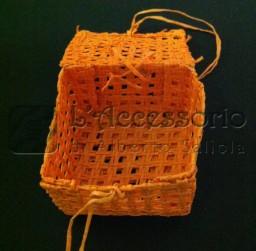 Scatolina rete quadrata arancione