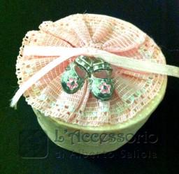 Scatolina rigida con scarpette rosa