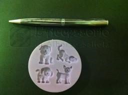 Stampo in silicone mini cagnolini