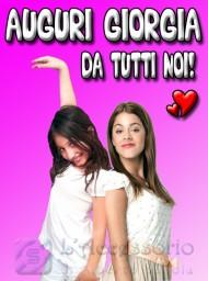Giorgia con la famosa Violetta