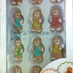 Decorazioni in zucchero gingerbread 12pz a