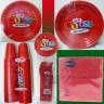 Coordinato Piatti in plastica base rosso