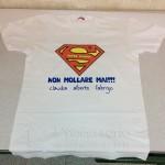 Maglietta super mamma con scritta