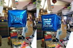 Palloncino in mylar cubo con stampa personalizzata su tutti i lati