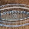Vassoio plastica ovale trasparente