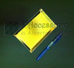 Piattino dorato oro rettangolare monoporzione