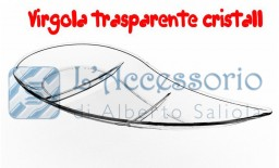 """Piattino mini 3 scomparti trasparente """"Virgola"""""""